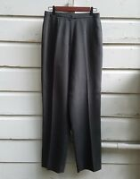 Casual Corner Women's Sz 8 Pants Flat Front Career Dress Grey Slacks Lined