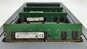 LOT 4 MICRON MTA9ASF1G72PZ 8GB DDR4 PC4-2400T-R 19200MBs ECC REG DIMM MEMORY RAM