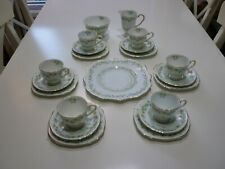 Vintage very pretty complete 21 piece Royal Stafford Tea Set -hand painted.
