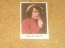 Neil Diamond plastic coated card/sticker from Hit Parade mag/nwspp (Germany) '72
