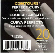 SALLY BEAUTY SUPPLY CONTOURS 20 PERFECT CURVE ARTIFICIAL NAIL TIPS 715356