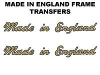 Dunelt Made in England Transfers Decals Sold as a Pair Gold/Black