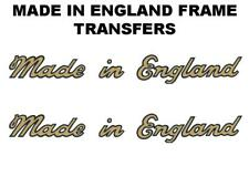 James Motorcycle Made in England Transfers Decals Pair Gold/Black