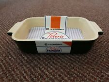 Le Creuset Francaise 19 x 13cm Microwave Safe Deep Rectangle Dish Green Cream,