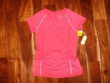 Nwt Womens Tangerine Tomato Red Exercise Fitness Running Shirt Size M Medium