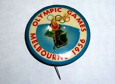 1956 OLYMPIC GAMES MELBOURNE AUSTRALIA Official Olympic Logo Poster Button Pin