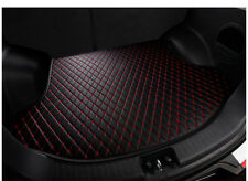 For Honda Civic 2006-2015 Black Leather Car Cargo Rear Trunk Mat Boot Liner Tray
