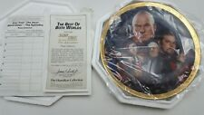 The Best Of Both Worlds #96 Low Fire Star Trek Plate Hamilton Collection
