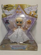 """Shopkins Angelique Star Special Edition Metallic Angel Wing Wand Stand 6"""" Doll"""