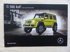 Mercedes-Benz G-Klasse - G 500 4x4² - Sondermodell - Prospekt Brochure 06.2015