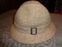 05be8522c1f VTG Rosollino Fedora Men 7 Brown Tweed Wool Hat Cap Lined HIPSTER ...