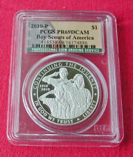 2010 Boy Scouts 100th Anniversary proof silver commemorative-PR69 DCAM-PCGS
