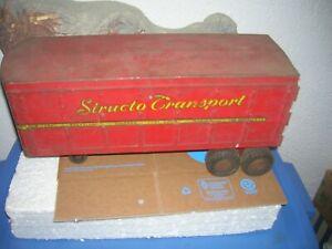 VINTAGE STRUCTO TRANSPORT SEMI TRAILER # 700 PRESSED STEEL