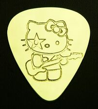 HELLO KITTY STAR CHILD - Solid Brass Guitar Pick, Acoustic, Electric, Bass