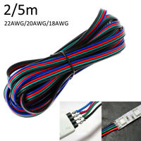 4 Pin Extension Wire Cable Cord 22AWG 20AWG 18AWG for RGB LED Strip 2m/5m