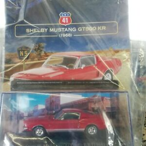 SHELBY MUSTANG GT500 KR 1968 AMERICAN CARS COLLECTION #41 MIB DIE-CAST 1:43