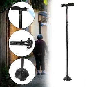 Folding Adjustable Walking Stick LED Light Walking Lightweight Collapsible Cane