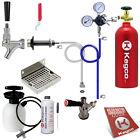 Kegco Kegerator Keg Tap Door Mount Draft Beer Conversion Kit 5 lb. CO2 Tank