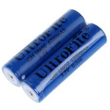2pcs 18650 6800mAh 3.7V Rechargeable Li-ion Battery Blue for Flashlight C3V5