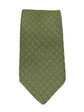 Brooks Brothers Tie 100% Silk Green Blue White  Mens Necktie