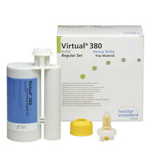 VIRTUAL 380 HEAVY BODY REGULAR SET IVOCLAR 2 X 380ML. DENTAL SILICONE SILICONA.
