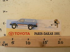 STICKER,DECAL TOYOTA PARIS-DAKAR 1991 RUCANOR RALLYE CAR LARGE A
