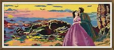 "Embroidery Picture Crewel Needle Cross Embroidered ""Couple In Love"""
