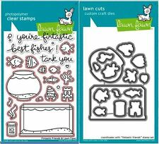 Lawn Fawn Photopolymer Clear Stamp & Die Combo Set ~ FINTASTIC FRIENDS ~ 891,892
