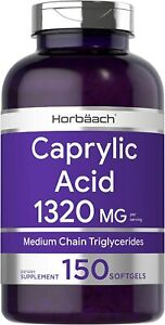 Caprylic Acid 1320 mg | 150 Softgel Capsules | from MCT Oil | Non-GMO,...