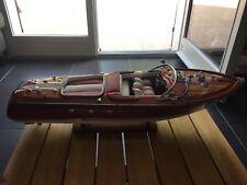 maquette bateau bois RIVA AQUARAMA lamborgini 50cm  wooden model BOAT