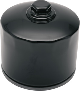 Drag Specialties Black Oil Filter With Nut 80-85 Harley Touring Sportster FXS