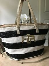 River Island stripy sequins tote shoulder bag handbag