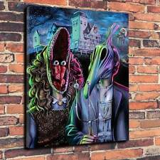 "Beetlejuice Printed Box Canvas Picture A1.30""x20"".Deep 30mm Horror Halloween"