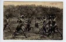 (Lw448-388) Zulu, A Stick Fight c1910 Unused G-VG