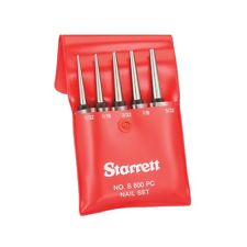 "Starrett S800PC Nail Punch Set Square Head 5-Piece 100mm/4"" Made in USA"