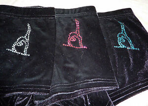 New LILAC LIZARD velour hipster gymnastic / dance shorts ( leotard ) GYMNAST