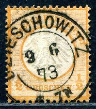 DR 1872 14 gestempelt DZIESCHOWITZ sehr schön (A9406