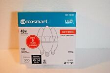 EcoSmart 40W Equivalent Soft White LED - Dimmable (3 Pk Box) Candelabra - NEW