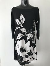 WHITE HOUSE BLACK MARKET Floral Dress Black/White Size M
