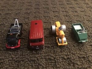 Lot of 4 Wiking HO scale 1:87 City Vehicles 366 Tow Truck Van Steamroller 37n
