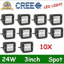 10pcs 3inch 24W Cree LED Spot Cube Work Lights Save Flush Mount Bar Lighting DEA