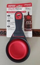 Dexas Collapsible Klip Scoop 1 Cup For Pets, New Red