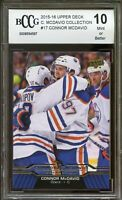 2015-16 Upper Deck #17 Connor McDavid Rookie Card BGS BCCG 10 Mint+