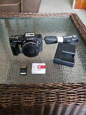 Sony Cyber-shot DSC-H10 8.1MP Digital Camera Black w Batt/Charger/Card /Strap.
