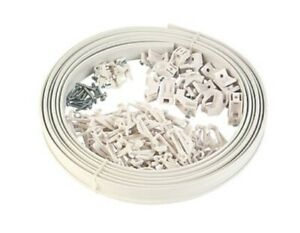 White PVC bendable curtain track/rail for Bay/Straight windows, 5m plus spare