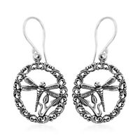 Fashion Dragonfly Dangle Drop Earrings 925 Sterling Silver Vintage Jewelry