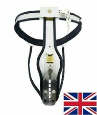 Female Chastity Belt/Device Stainless Steal Heavy Duty 2 chain 65 - 90 cm