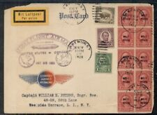 US 1928, Zeppelin First Flight to Germany w/Graf Zepp Ovpt,  3 Postmasters rev