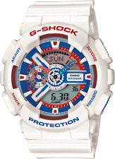 Casio G Shock GA110TR-7A Tri Color Mens Ana-Digi Watch with White Resin Band