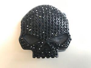 Harley-Davidson womens Jet Willie G Skull belt buckle.# HDWBU10140 .Black bling.